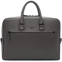 Lanvin Taupe Grained Leather Briefcase