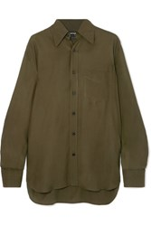 Tom Ford Twill Shirt Green Gbp