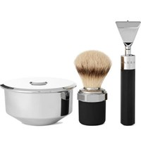 Marram Co Chrome Plated Modern Razor Shaving Set Colorless