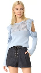 Philosophy Di Lorenzo Serafini Long Sleeve Sweater Light Blue