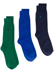 Polo Ralph Lauren Three Pack Embroidered Socks 60
