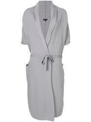Unconditional Long Belted Cardigan Grey