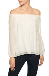 Sanctuary Women's Chantel Slit Sleeve Off The Shoulder Top Winter White