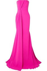 Alex Perry Garnet Strapless Draped Crepe And Satin Gown Pink