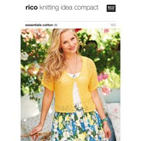 Rico Cotton Dk Women's Cardigan Knitting Pattern 153