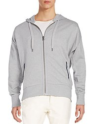 Cult Of Individuality Zipper Detailed Hoodie Grey