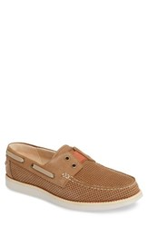 Tommy Bahama Men's Relaxology Mahlue Boat Shoe Tan Nubuck Leather