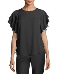 Laundry By Shelli Segal Ruffle Sleeve Blouse Black