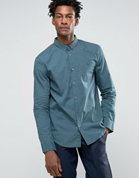 Kiomi Shirt In Regular Fit Petrol Blue