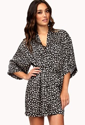 Forever 21 Spot On Leopard Robe Black Cream