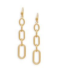 Rivka Friedman Link Drop Earrings Gold