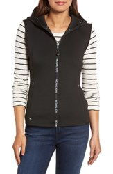 Michael Michael Kors Women's Hooded Neoprene Vest Black