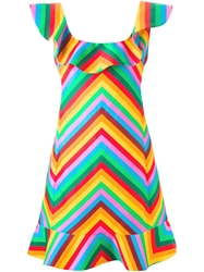 Valentino Zig Zag Print Dress Green