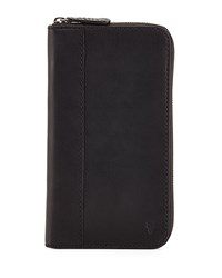 Logan Leather Travel Wallet Black Frye