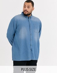 Burton Menswear Big And Tall Denim Shirt Blue