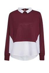 French Connection Fresh Jersey Shirt Jumper Red