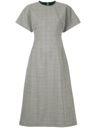 Le Ciel Bleu Checked Fit And Flare Dress Grey