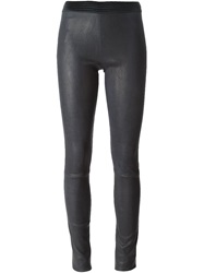 Drome Leather Leggings Grey