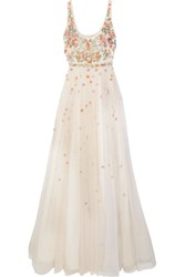Jenny Packham Embroidered Tulle Gown Cream