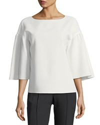 Lafayette 148 New York Gwendolyn Finesse Crepe Blouse Cloud