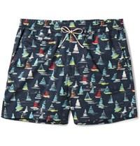 Loro Piana Maui Printed Mid Length Swim Shorts Blue