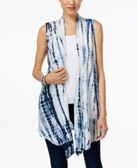 Styleandco. Style And Co. Tie Dyed Open Front Vest Only At Macy's Blue Combo