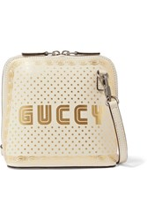 Gucci Linea X Printed Leather Shoulder Bag Ivory Gbp