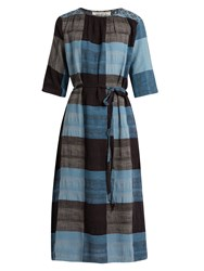 Ace And Jig Olympia Plaid Cotton Dress Blue Multi