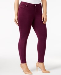 Celebrity Pink Trendy Plus Size Skinny Jeans Potent Purple
