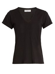 Track And Bliss The V Neck Perfomance T Shirt Black