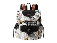 Sakroots Artist Circle Flap Backpack Natural Peace Backpack Bags Multi