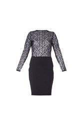 Maiocci Collection Dress With Lace Top Black