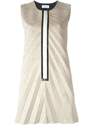 Aviu Pleated Shift Dress Nude And Neutrals