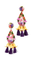 Mercedes Salazar Fiesta Earrings Multi