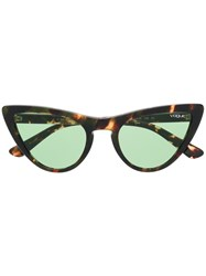 Vogue Eyewear Cat Eye Sunglasses Brown