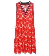Tommy Hilfiger Lace Dress Red