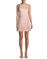 Cupcakes And Cashmere Daton Sleeveless Lace Up A Line Mini Dress Light Pink