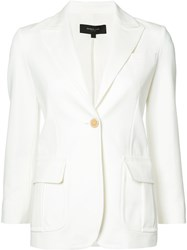 Derek Lam One Button Blazer White
