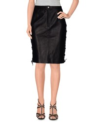 American Retro Skirts Knee Length Skirts Women Black