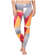 Spyder Fate Pants Multi Color Shield Print Women's Workout Yellow