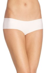 Women's Halogen 'No Show' Cheeky Hipster Briefs Pink Veil Rose