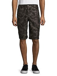 American Fighter Camo Printed Shorts Black