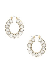 Ettika Embellished Hoops Metallic Gold