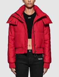 Off White Embroidered Arrow Down Jacket
