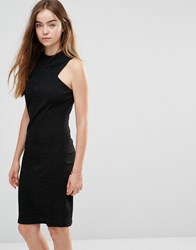 Shades Of Grey Racer Front Knit Dress Black