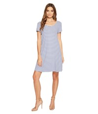 Christin Michaels Victoria Striped Dress Grey Ivory Women's Dress Brown
