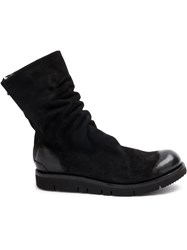 The Last Conspiracy Back Zip Boots Horse Leather Rubber Black