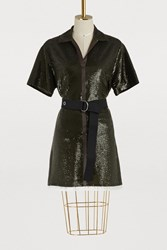 Chloe Belted Dress Night Forest