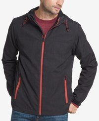 G.H. Bass And Co. Men's Explorer Hooded Rain Jacket Black Heather