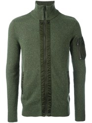 Diesel Zip Up Cardigan Green